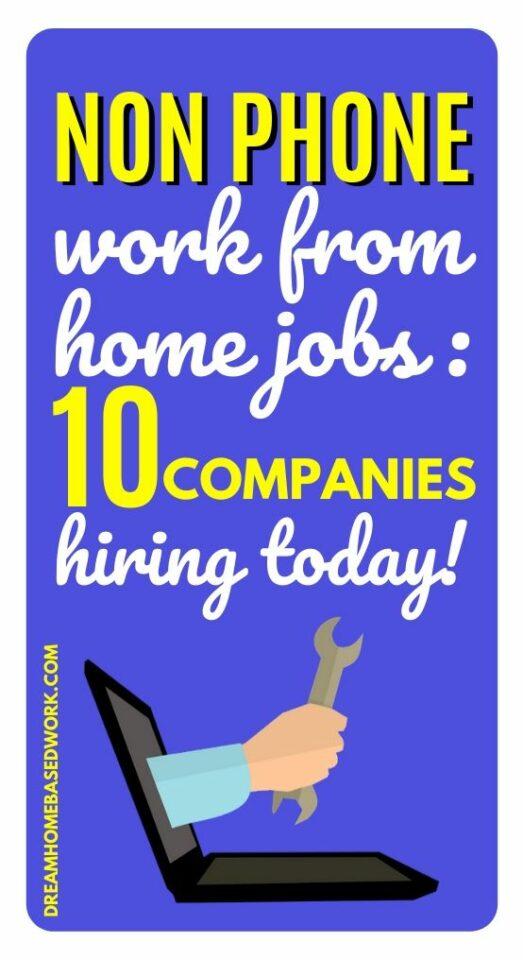 Хотите работать из дома, но боитесь быть на связи? Вот 10 из лучших не телефонных работ на дому, чтобы рассмотреть.