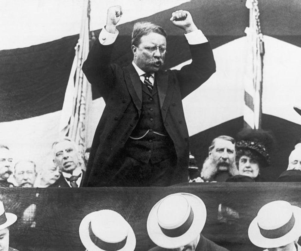Теодор Рузвельт, один галлон в день