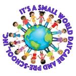 Это маленький мир Дневной уход и дошкольный логотип