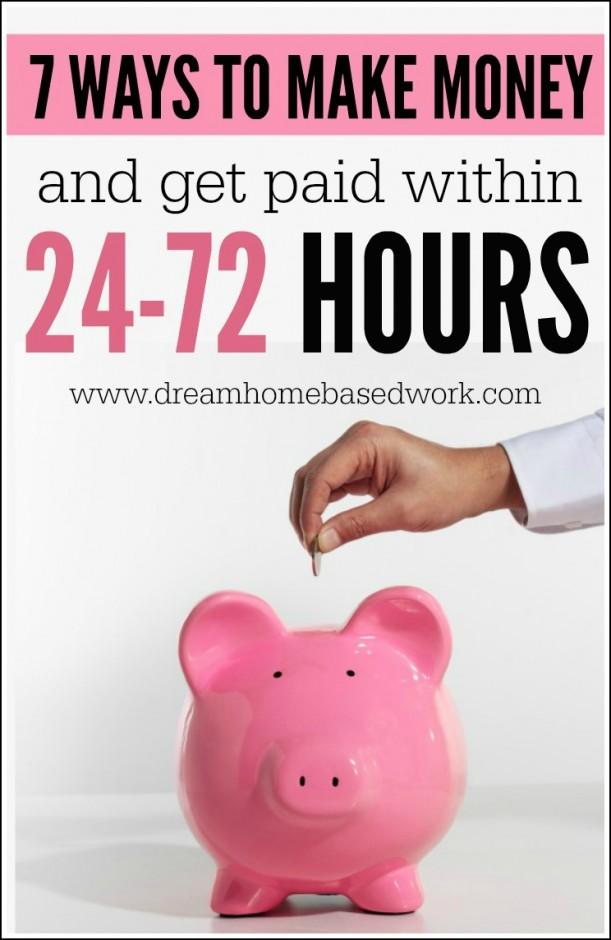 Откройте для себя 7 самых популярных способов заработать наличные дома 7 дней в неделю и получать оплату в течение 24-72 часов.